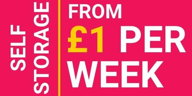 self storage from £1 per week