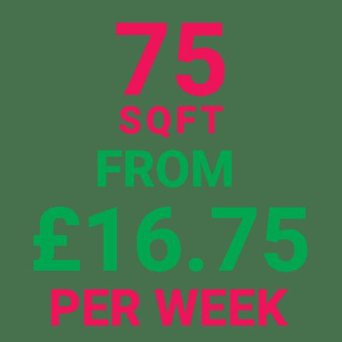 Storage Manchester 75SqFt Prices